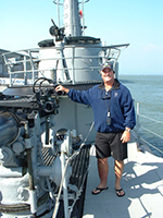 Darrell 'Smitty' Smith on the USS Pampanito